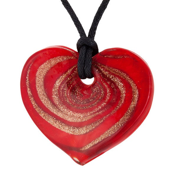 Red Murano Glass Heart Pendant
