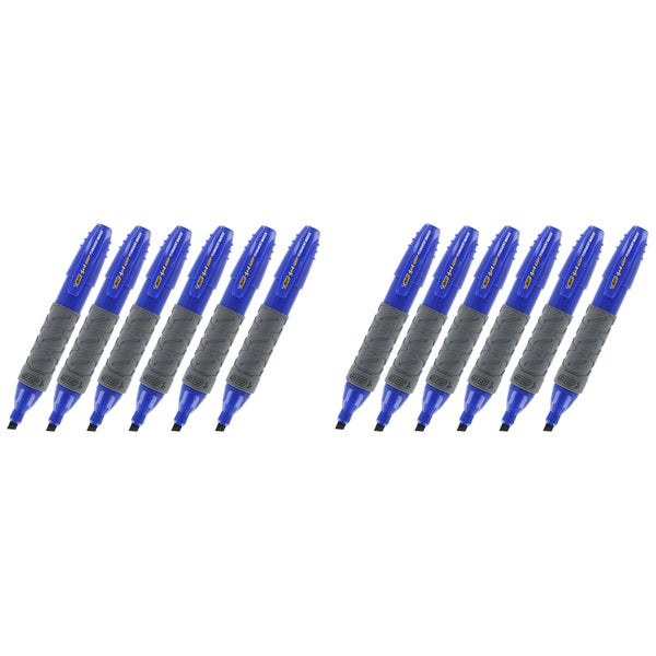 Bic 4X4 Grip Blue Ink Chisel Tip Permanent Markers