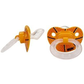NUK Plastic Size 2 Basketball Orthodontic Pacifier (Pack of 2)