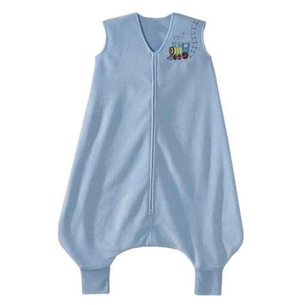 Halo Train Blue Fleece Early Walker SleepSack