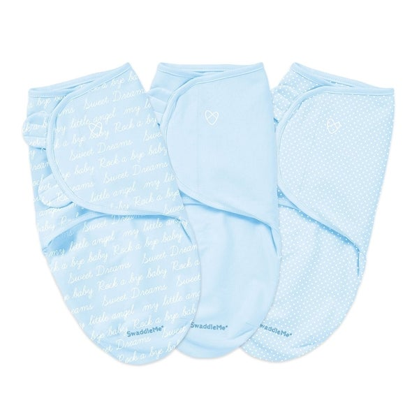 SwaddleMe Summer Infant Cursive Blue Original Swaddle (Pack of 3)