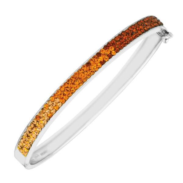 Sterling Silver Crystal Bangle Bracelet