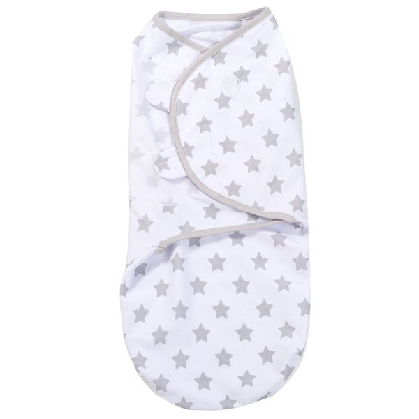 Summer Infant SwaddleMe Grey Cotton Star-print Knit Wrap