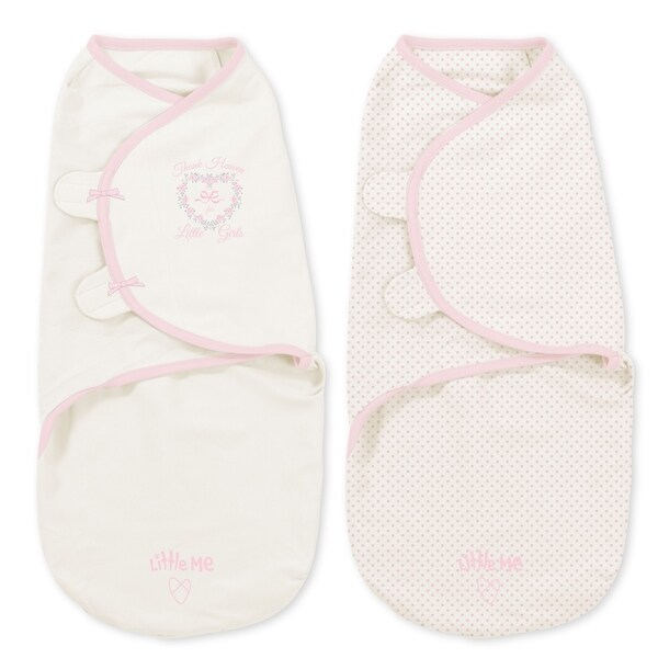 Summer Infant's Heaven Girl Little SwaddleMe Pink Cotton Wrap