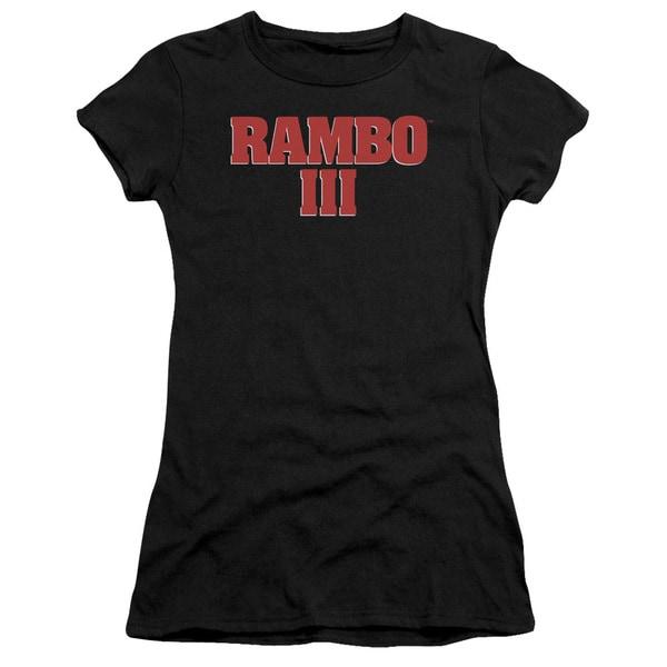 Rambo Iii/Logo Junior Sheer in Black
