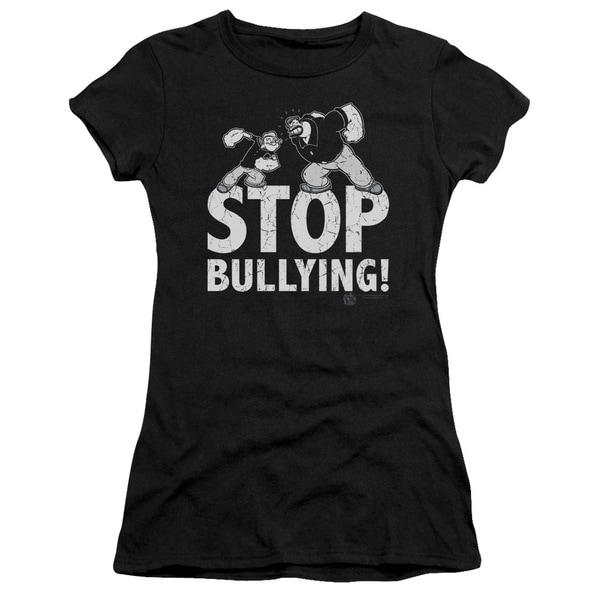 Popeye/Stop Bullying Junior Sheer in Black