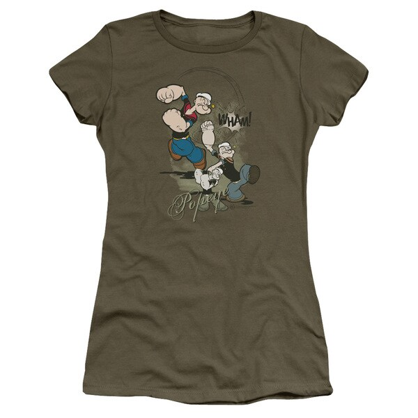 Popeye/Three Part Punch Junior Sheer in Military Green