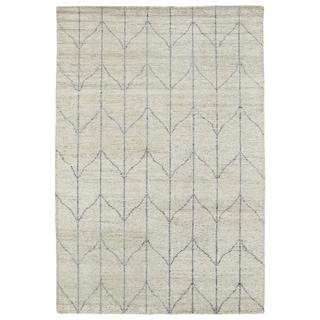 Handmade Collins Sand & Grey Nomad Rug (8'0 x 11'0)