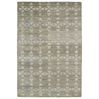Handmade Collins Oatmeal & Light Taupe Nomad Rug (4'0 x 6'0)