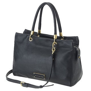 Marc by Marc Jacobs Too Hot To Handle Black Leather Shoulder Tote