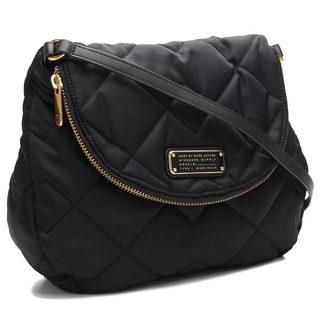 Marc by Marc Jacobs Mini Natacha Black Nylon Quilted Crossbody Handbag