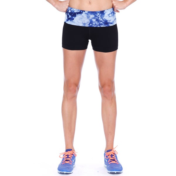 Nikibiki Activewear Women's Short Tie Dye Yoga Pants (Shorts)