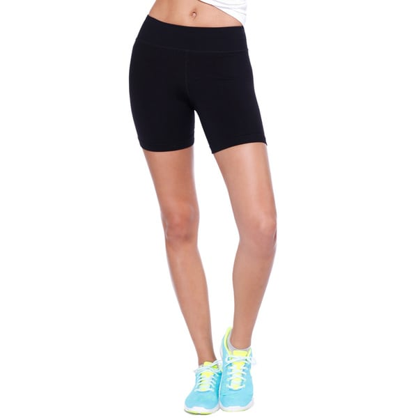 Nikibiki Women's Boyshorts Blue/Black/Purple Nylon/Spandex Activewear Short Basic Jersey Pants