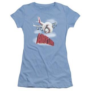 Airplane/Logo Junior Sheer in Carolina Blue