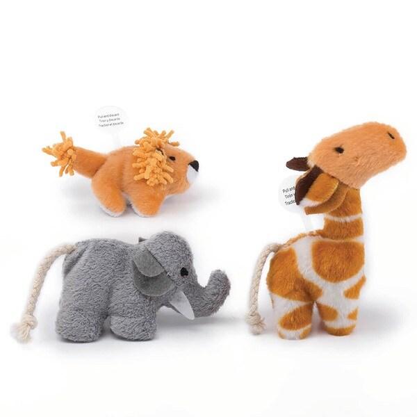 Pet Zone Safari Friends Brown/Grey 3-pack Cat Toys 18902282