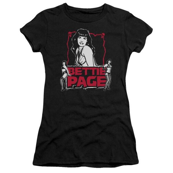 Bettie Page/Bettie Scary Hot Junior Sheer in Black