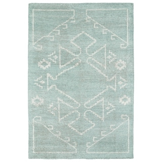 Handmade Collins Mint & Ivory Nomad Rug (8'0 x 11'0)