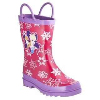 Disney Frozen Anna and Elsa Pink Toddler Rain Boots