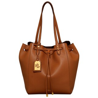 Ralph Lauren Oxford Bridle Brown Leather Tote Bag