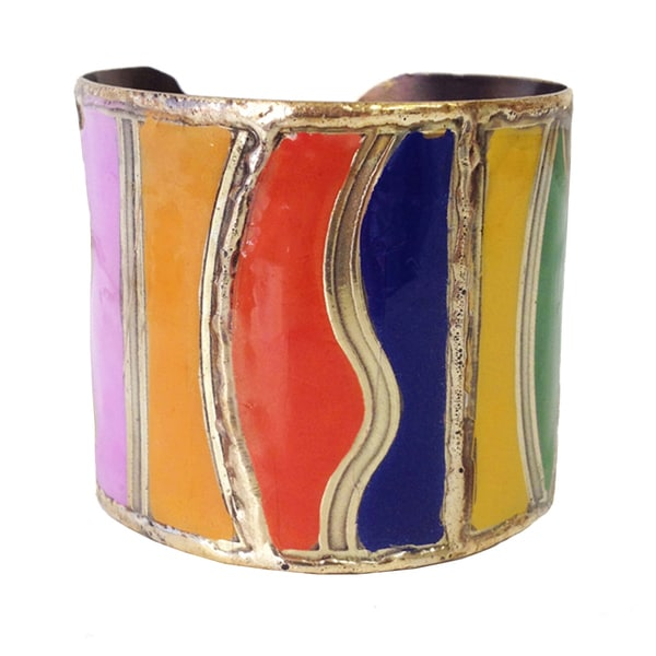 Multicolored Enamel Bangle