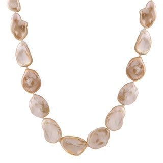 14k Gold Pink Keshi Pearl Necklace