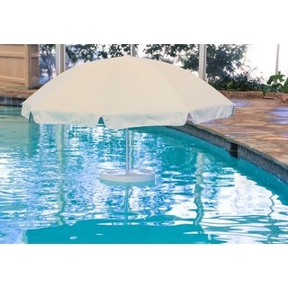 Pool Buoy The Original Oyster White Floating Umbrella and Buoy