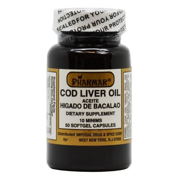 Aceite Higado de Bacalao Cod Liver Oil Capsules