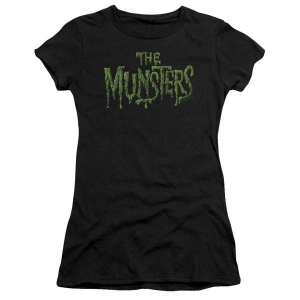 Munsters/Distress Logo Junior Sheer in Black
