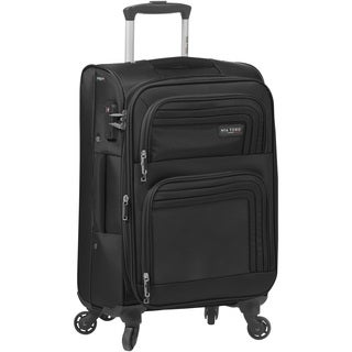Mia Tory ITALY Cortina 20-inch Expandable Carry On Spinner Upright Suitcase