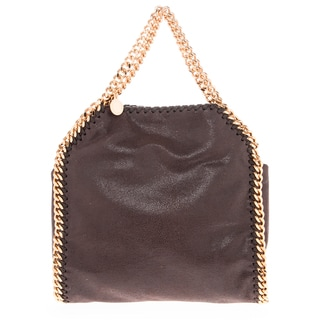 Stella McCartney Mini Falabella Shaggy Deer Brown Tote with Gold Hardware