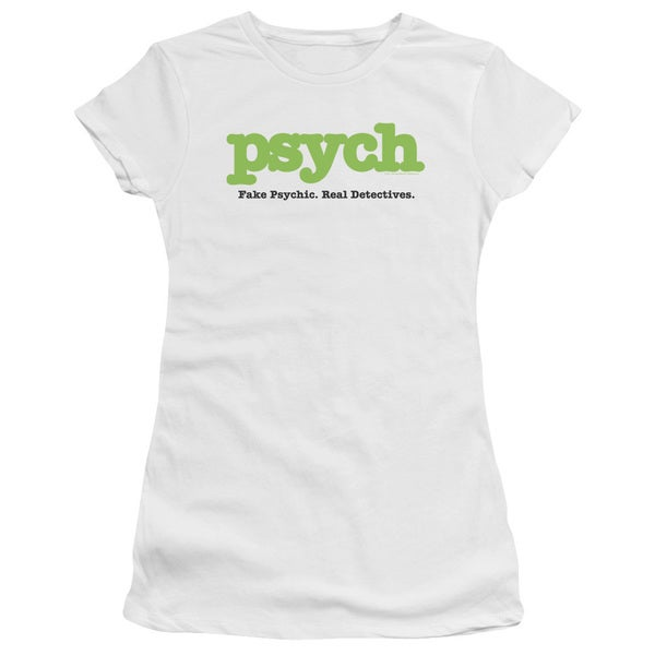 Psych/Title Junior Sheer in White