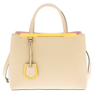Fendi Petite 2Jours Smooth Leather Contrast Interior Tote