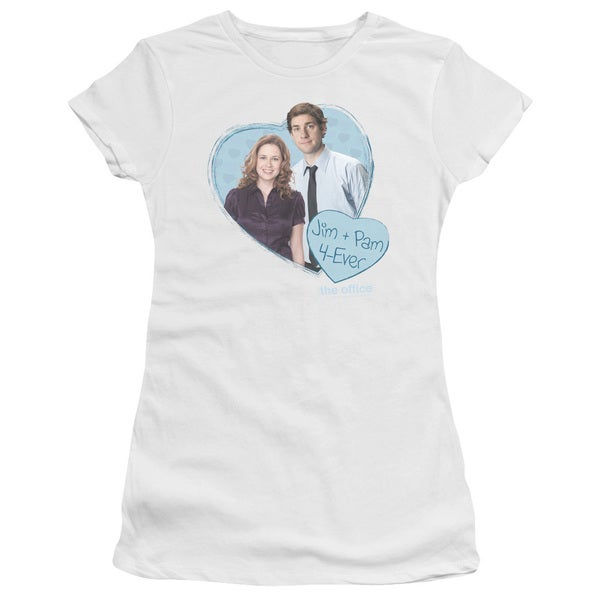 The Office/Jim & Pam 4 Ever Junior Sheer in White