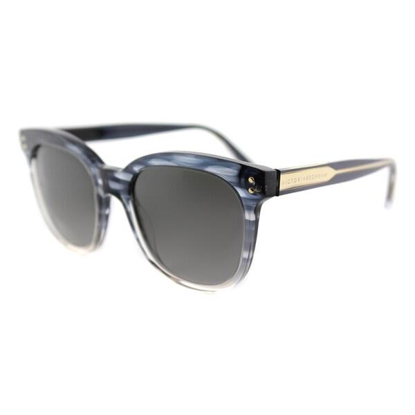 Victoria Beckham VBS 94 C21 The VB Blue Scale Plastic Square Grey Gradient Zeiss Lens Sunglasses