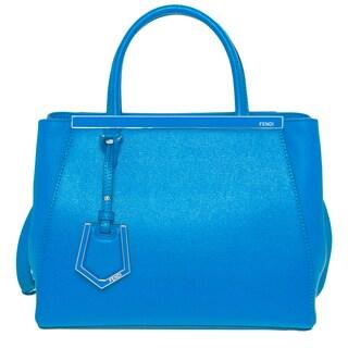 Fendi Petite 2Jours Blue Leather Shopper