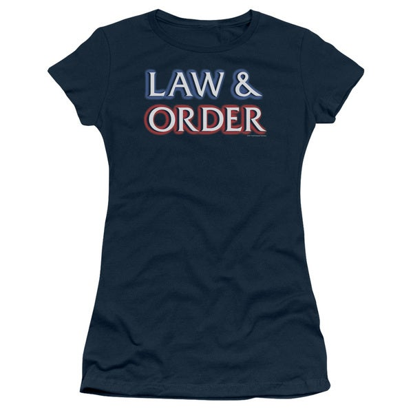 Law&Order/Logo Junior Sheer in Navy