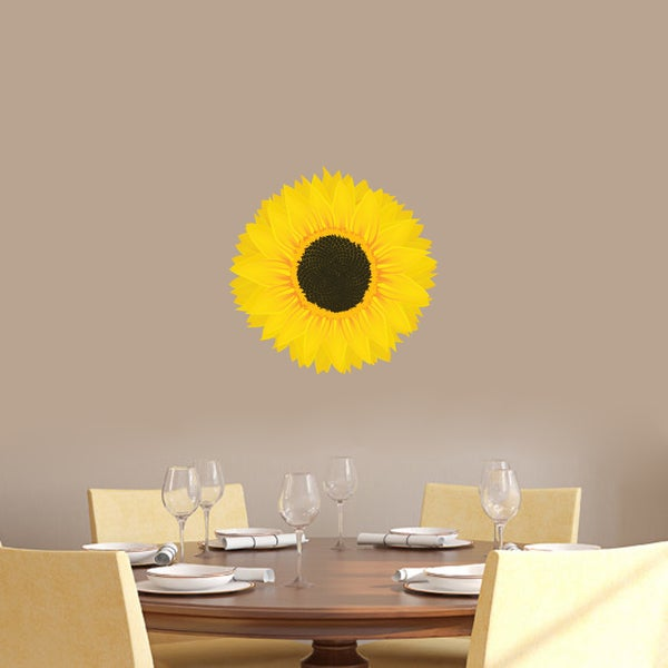 Sunflower Printed Vinyl Wall Decals