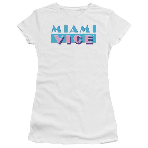 Miami Vice/Logo Junior Sheer in White