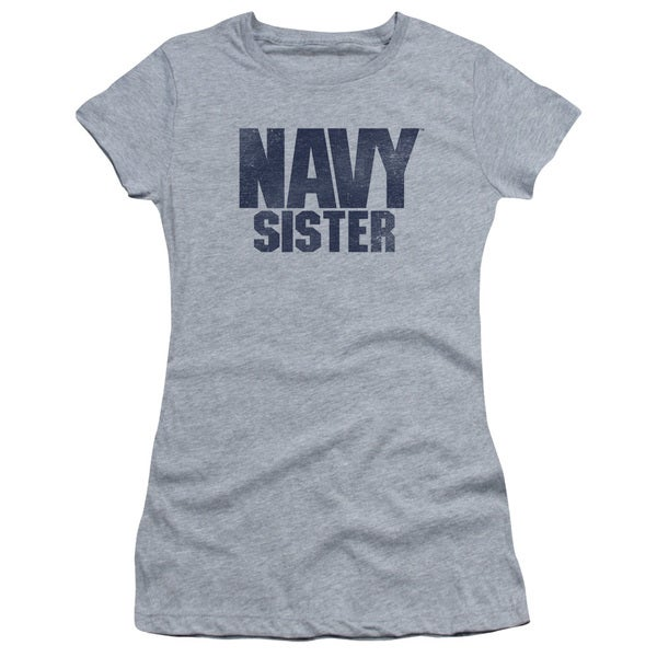 Navy/Sister Junior Sheer in Athletic Heather