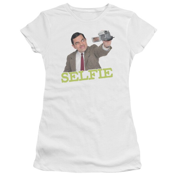 Mr Bean/Selfie Junior Sheer in White