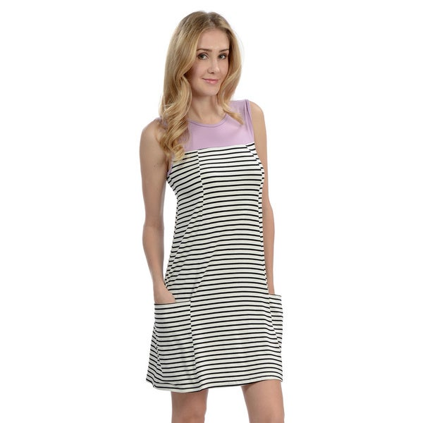 Women's Stripe Pocket Sheath Dress