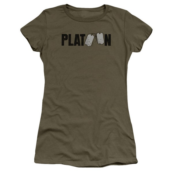 Platoon/Logo Junior Sheer in Military Green in Military Green