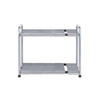 Seville Classics Grey and Silver Steel Expandable Sink Shelf With Mesh Panels