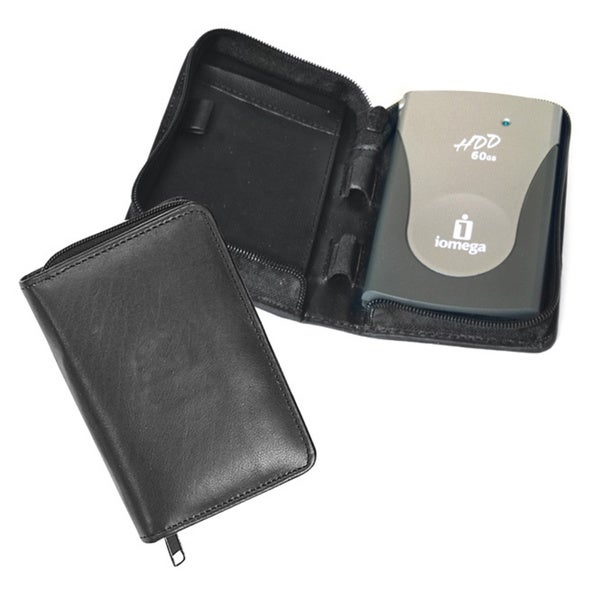 Universal Black Leather Compact Palm Pilot Case