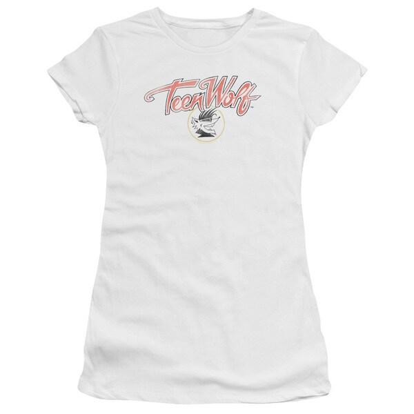 Teen Wolf/Poster Logo Junior Sheer in White in White