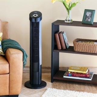 Seville Classics UltraSlimline Black 40-inch Tower Fan