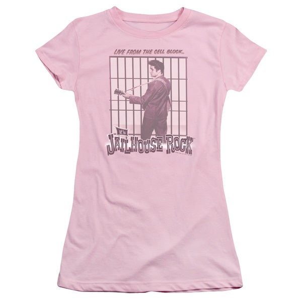 Elvis/Cell Block Rock Junior Sheer in Pink