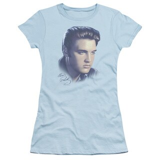 Elvis/Big Portrait Junior Sheer in Light Blue
