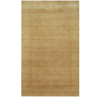 Herat Oriental Indo Hand-loomed Tribal Gabbeh Beige Wool Rug (3' x 5')