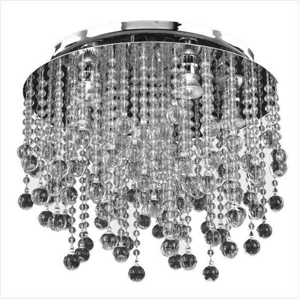 Bayside 5-Light Chrome Semi-Flush Mount